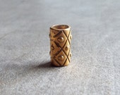 Gold Tone Dread Bead