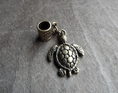 Antiqued Brass Turtle Dreadlock Accessory