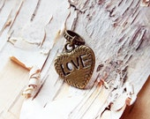 Antiques Brass Love Charm ADD to your DREADS Dreadlock Accessory Extension Accessories Dread Boho Bohemian Hippie Bead