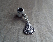 Small Silver Toned Buddha Dreadlock Accessory