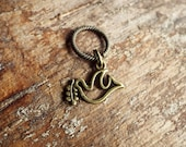Antiques Brass Peace Dove Dreadlock Accessory