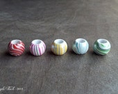 Colorful Marbled Swirl Resin Dread Bead