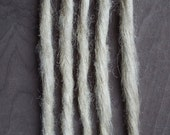 5 Plain Custom Clip In or Braid In Dreadlock Extensions Standard Synthetic Hair Boho Dreads (Cool Blonde 22)