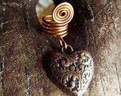 Copper Heart Dreadlock Accessory