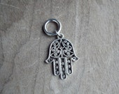 Silver Tone Decorative Hamsa Dreadlock Accessory