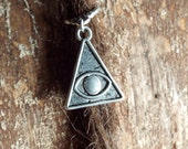 Silver Tone Pyramid Eye Dreadlock Accessory