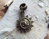 Antiques Brass Sun Charm Dreadlock Accessory