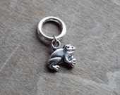 Silver Tone Frog Dreadlock Accessory