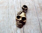 Antiques Brass Skull Dreadlock Accessory