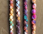4 Vegan Clip In or Braid In Dreadlock Extensions Tie Dye Nylon Boho Dreads Custom Hair Wraps