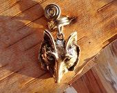 Wolf Silver Dread Charm ADD to your DREADS Dreadlock Accessory Extension Accessories Dread Boho Bohemian Hippie Bead Dangle