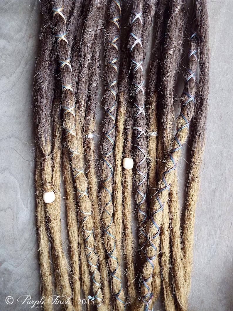 10 Custom Crocheted Dreadlock Clip In or Braid In Extensions image 0