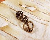 Antiques Brass Peace Sign Heart Dreadlock Accessory