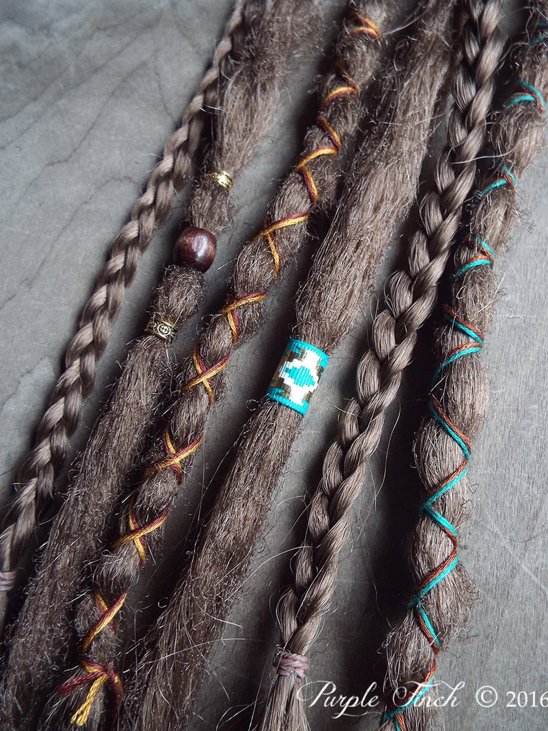 6 Custom Clip In or Braid In Dreadlock Extensions Standard image 0