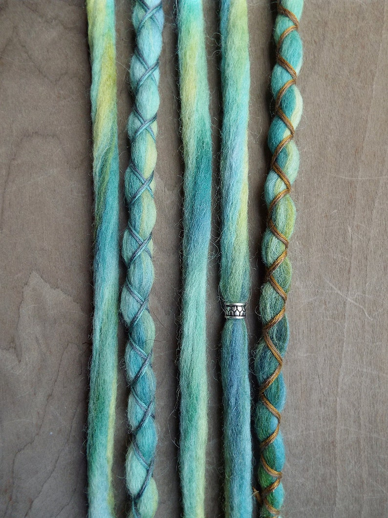 5 Custom Clip In or Braid In Dreadlock Extensions Color Mix: image 0
