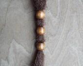 3 Small Medium Brown Wood Dread Bead Plum Dreadlock Accessory Extension Accessories
