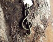 Antiques Brass Musical Treble Clef Dreadlock Accessory