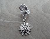 Silver Tone Sun Dreadlock Accessory