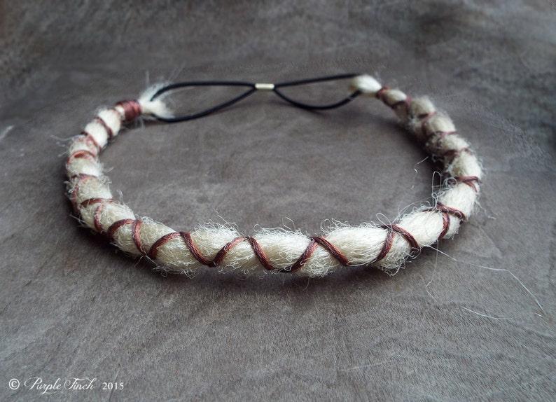 Custom Dreadlock X-Cross Wrapped Bohemian Headband image 0