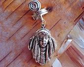 Silver Tone Native Girl Dreadlock Accessory