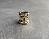 Gold Tone Mayan Dread Bead