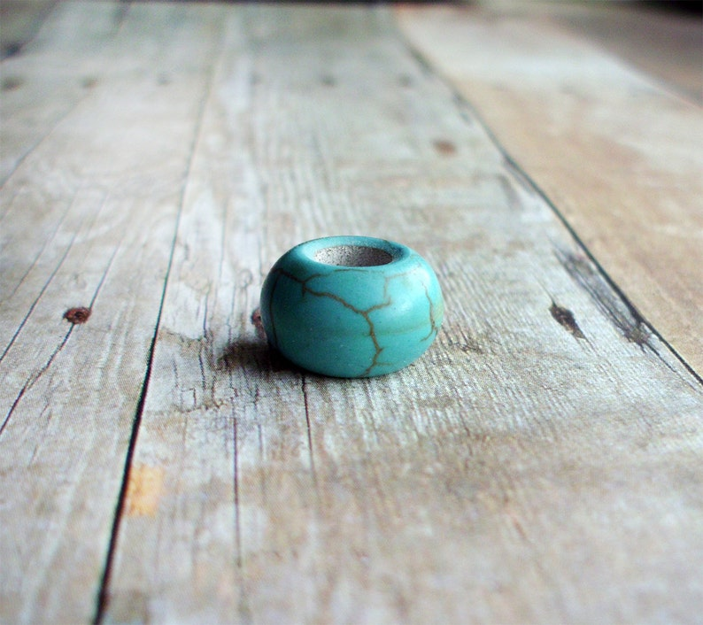 Turquoise Dreadlock Bead  image 0