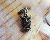 Antiqued Brass Owl Dreadlock Accessory