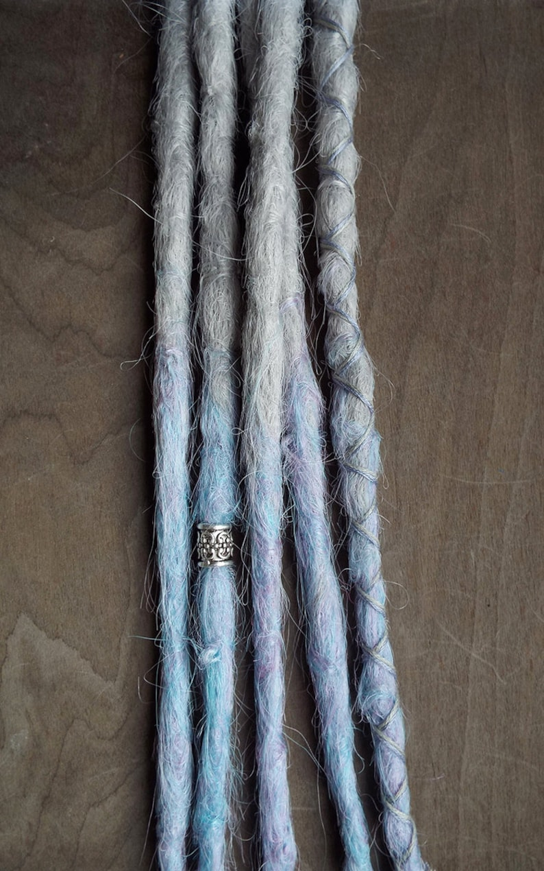 5 Custom Crocheted Clip In or Braid In Dreadlock Extensions image 0