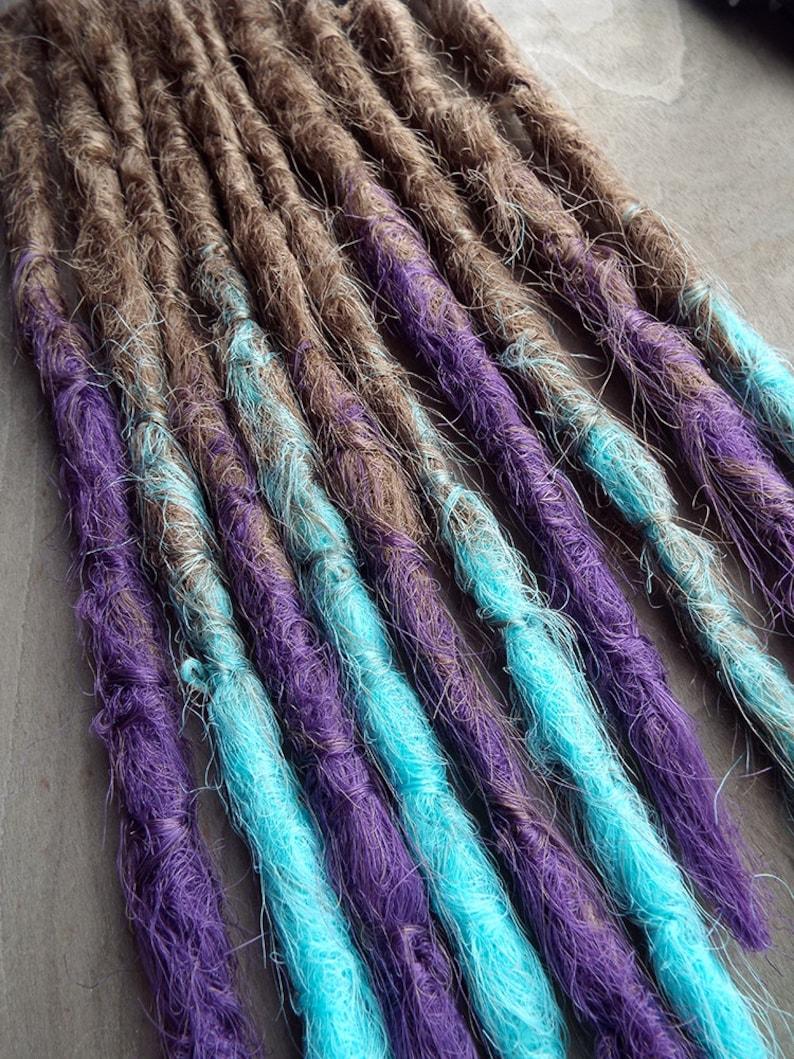 10 Custom Crocheted Clip In or Braid In Dreadlock Extensions image 0