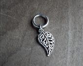 Silver Tone Decorative Leaf Dreadlock Accessory