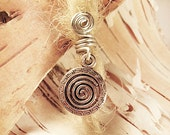 Silver Swirl Aztec Charm ADD to your DREADS Dreadlock Accessory Extension Accessories Dread Boho Bohemian Hippie Bead Dangle