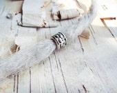 Silver Tone Braid Pattern Dreadlock Bead
