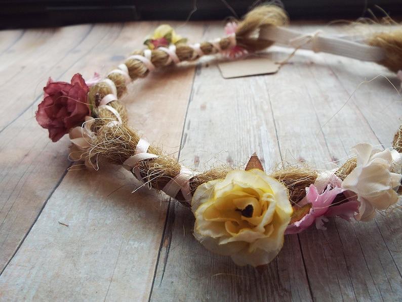 Custom Dreadlock Flower Bohemian Headband Synthetic Hair  image 0