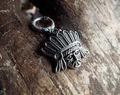 Silver Tone Native Chief Dreadlock Accessory
