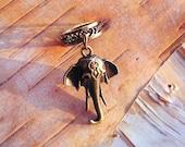 Antiques Brass Elephant Dreadlock Accessory