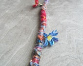 1 Twisted Bohemian Flower Charm Hair Wrap Clip In or Braid In Extension