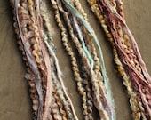 1 Multi-Material Clip In or Braid In Extension Bohemian Fiber Hair Festival Extensions