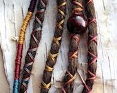 5 Custom Clip In or Braid In Dreadlock Extensions Standard Synthetic Hair Boho Dreads Hair Wraps & Bead