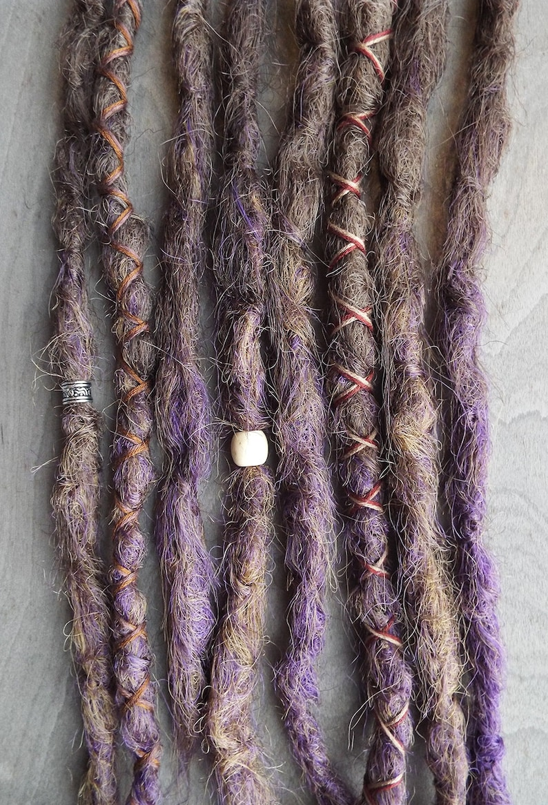 8 Custom Crocheted Clip In or Braid In Dreadlock Extensions image 0