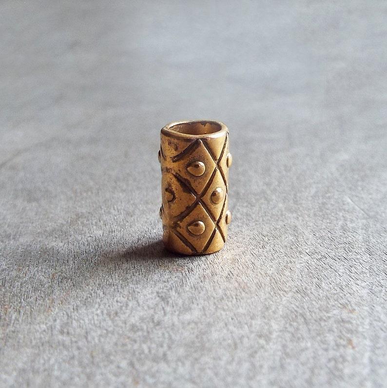 Gold Tone Dread Bead image 0