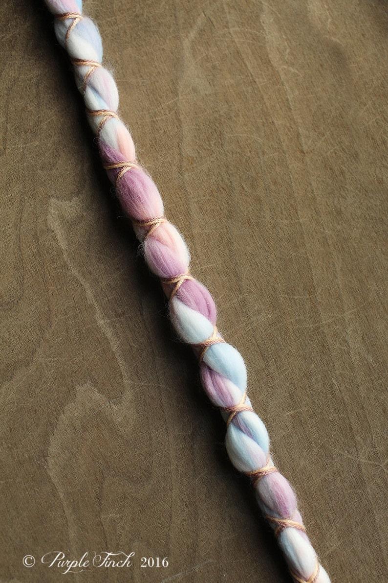 1 Vegan Clip In or Braid In Dreadlock Extension Tie Dye Nylon image 0