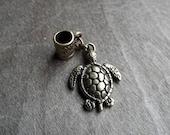 Antiqued Brass Turtle Dreadlock Accessory