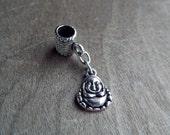 Small Silver Toned Buddha Dreadlock Accessory