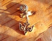 Silver Tone Aztec Bird Dreadlock Accessory