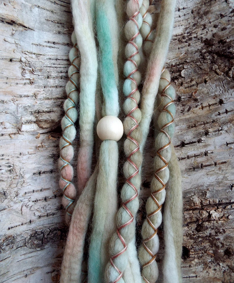 10 Custom Clip In or Braid In Dreadlock Extensions Color Mix: image 0