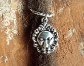 Silver Tone Lion Dreadlock Accessory