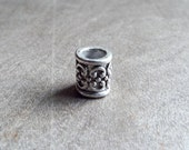 Silver Tone Dread Bead