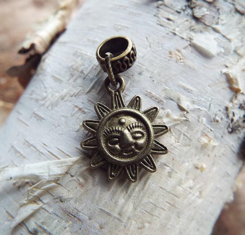 Antiques Brass Sun Charm Dreadlock Accessory image 0