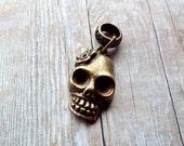 Antiques Brass Skull Dreadlock Accessory