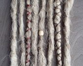 8 Custom Crocheted Clip In or Braid In Dreadlock Extensions Synthetic Hair Boho Dreads